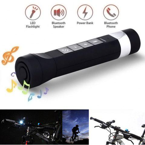 Store Youoklight 1PCS 1W 5V Cool White Bluetooth Multi-Function Bike Bluetooth Speaker+Mobile Power Bank+Led Flashlight+Bluetooth Call+Fm Radio+Support The Tf Card Contains 18650 Lithium Batteries - USB BLACK Mobile