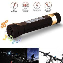 Youoklight 1PCS 1W 5V Cool White Bluetooth Multi-Function Bike Bluetooth Speaker+Mobile Power Bank+Led Flashlight+Bluetooth Call+Fm Radio+Support The Tf Card Contains 18650 Lithium Batteries - BROWN USB