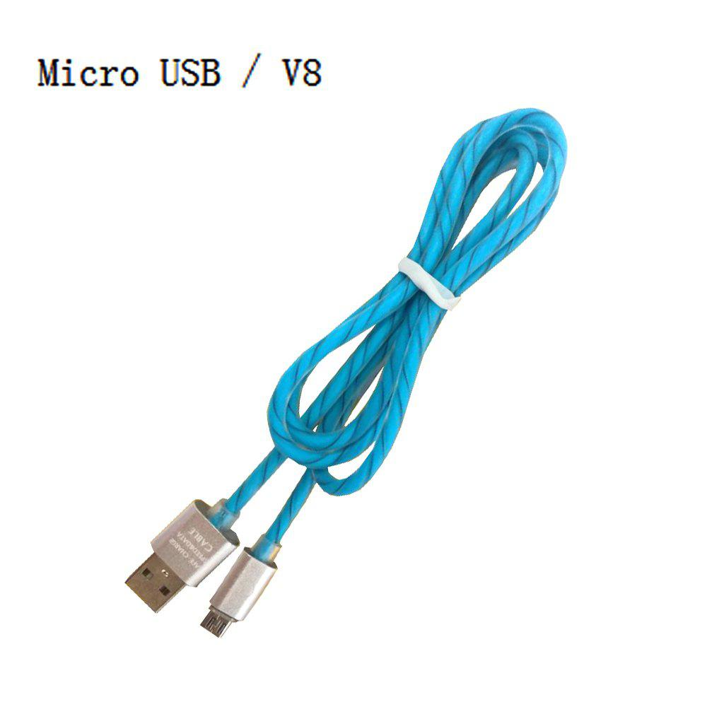 Blue 1m Micro Usb / V8 Two-color Candy Line / Phone Charging Data ...