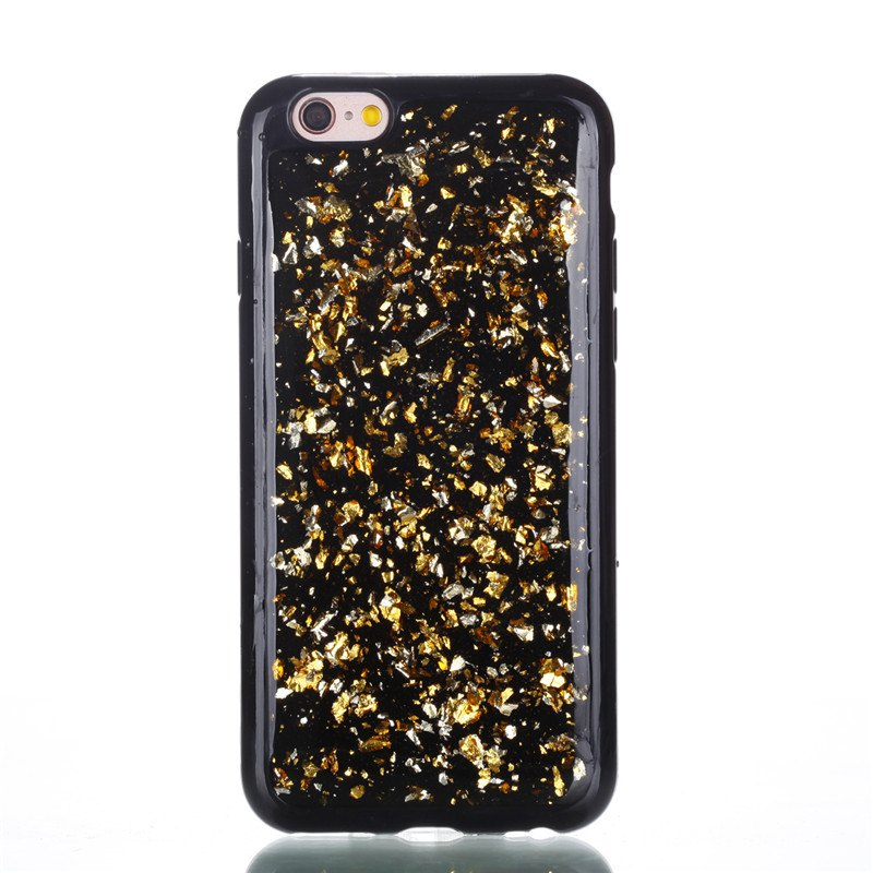 Buy for Iphone 6S 6 Tpu Material Drop Glue Gold Foil Phone Case