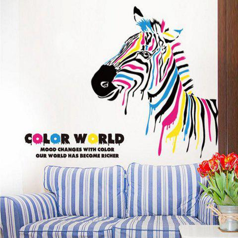 The Colorful Zebra Bedroom Living Room Background Wall Stickers
