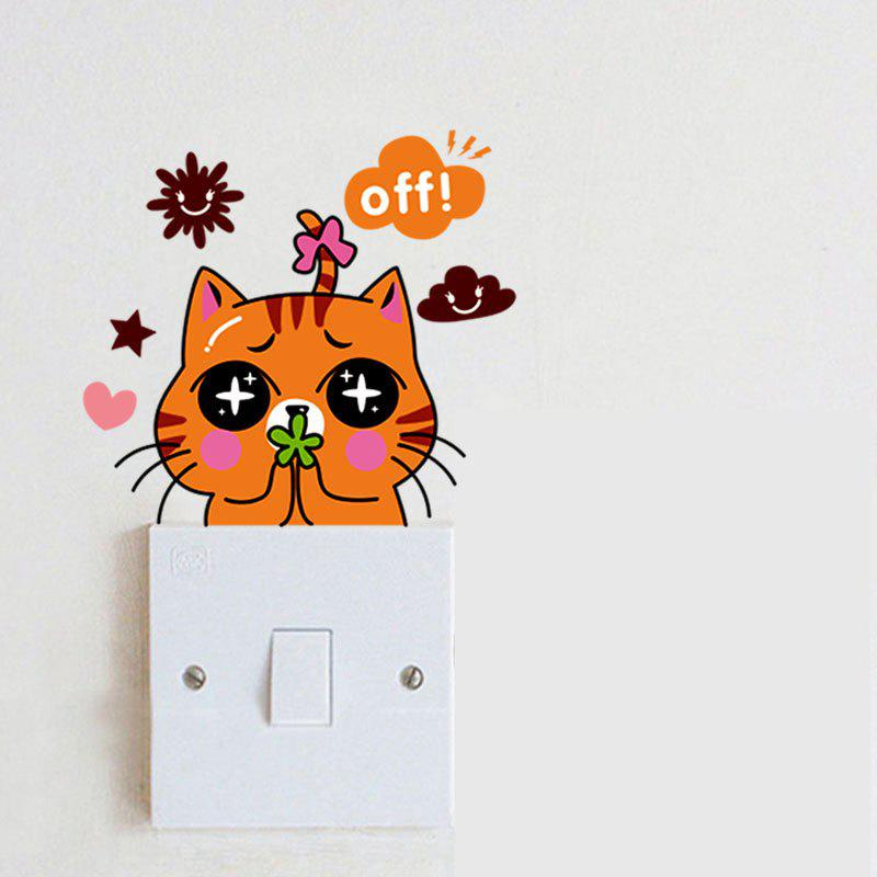 Switch Wall Stickers Cartoon Cat Socket Sticker Baby RoomsHOME<br><br>Size: 15 X 10CM; Color: MIX;