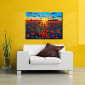 Yhhp Hand Painted Abstract Flower Sea oil Painting -