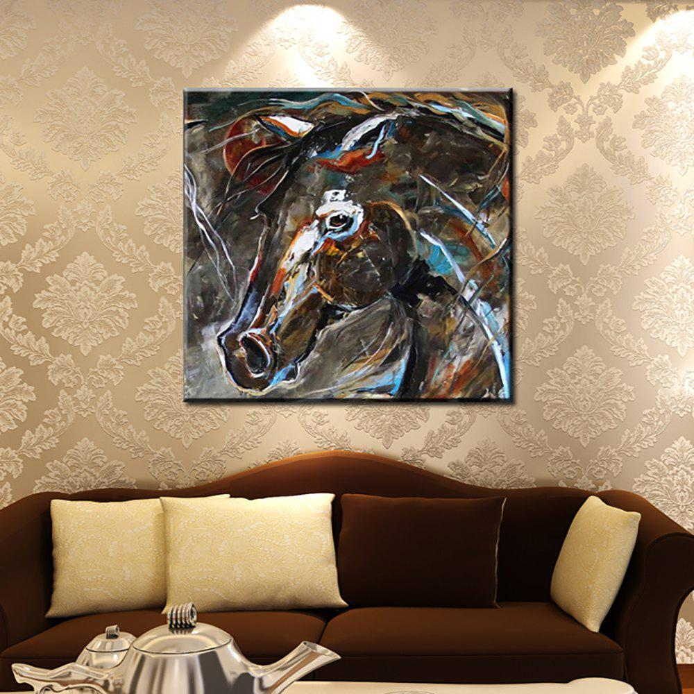 Yhhp Hand Painted Abstract Horse Head decoration Oil Painting 226046501