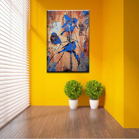 Yhhp Hand Painted Abstract The Bird Standing In The Tree Decoration Canvas Oil Painting