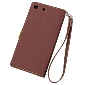 Love Leaf Card Lanyard Pu Leather for Sony M5 -
