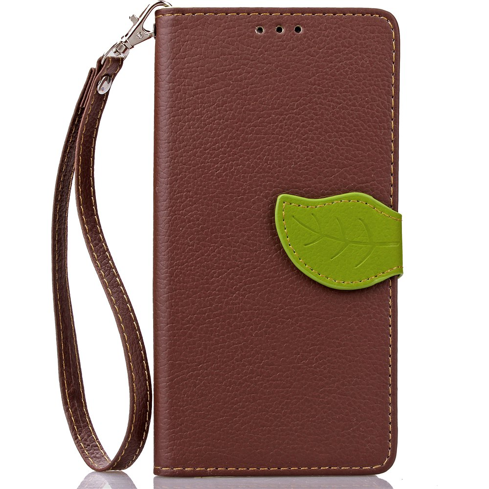 Online Love Leaf Card Lanyard Pu Leather for Sony M5