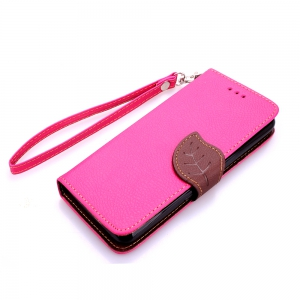 Love Leaf Card Lanyard Pu Leather for Sony E4 -