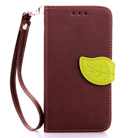 Trendy Love Leaf Card Lanyard Pu Leather for Sony E4
