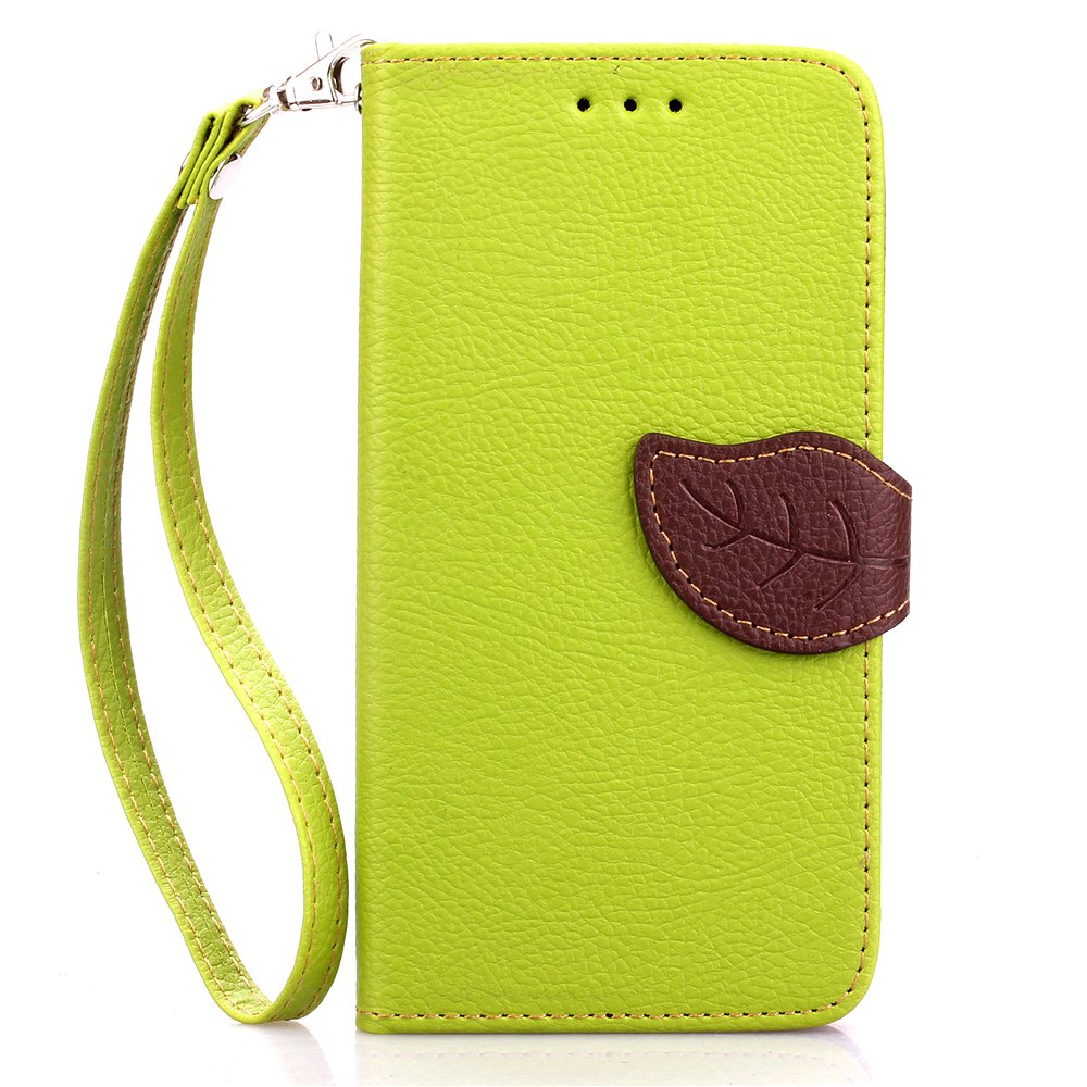 Unique Love Leaf Card Lanyard Pu Leather for Sony E4