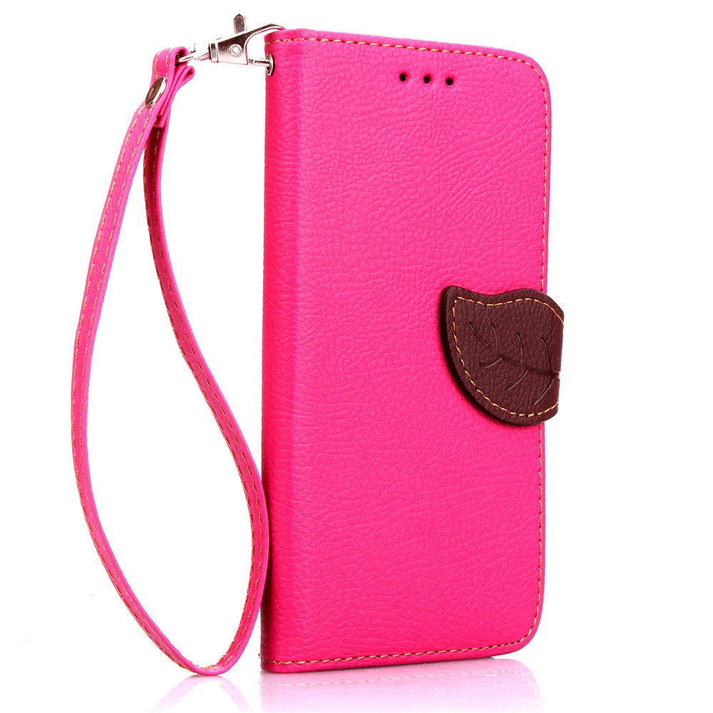 Cheap Love Leaf Card Lanyard Pu Leather for Sony E4