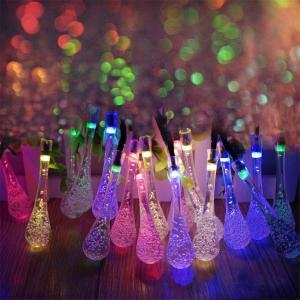 String 5M 20 LED Water Drop Light Lampe étanche Jardin Paysage Fairy Solar Decorative -