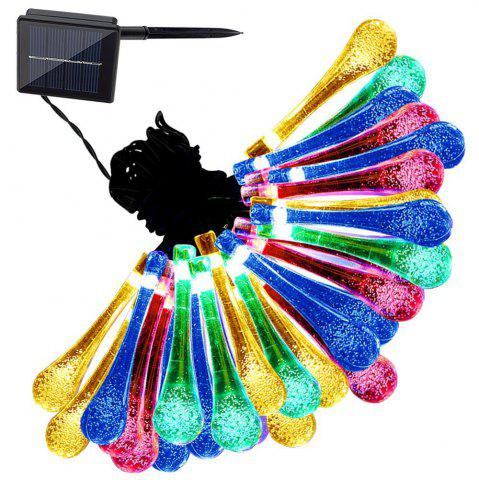 Cheap String 5M 20 LED Water Drop Light Waterproof Lamp Garden Landscape Fairy Solar Decorative