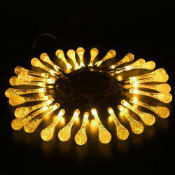 String 5M 20 LED Water Drop Light Waterproof Lamp Garden Landscape Fairy Solar Decorative -