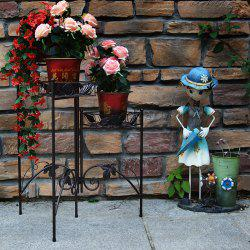 Easy Assembly European Black Square Three Layers Folding Flower Stand -