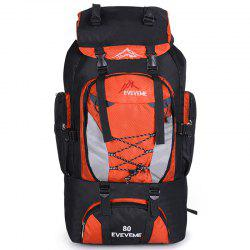 Fengtu 80L Outdoor Large Capacity Mountaineering Bag Nylon Mens Package Hiking Camping Backpacks Womens Traveling Bags -