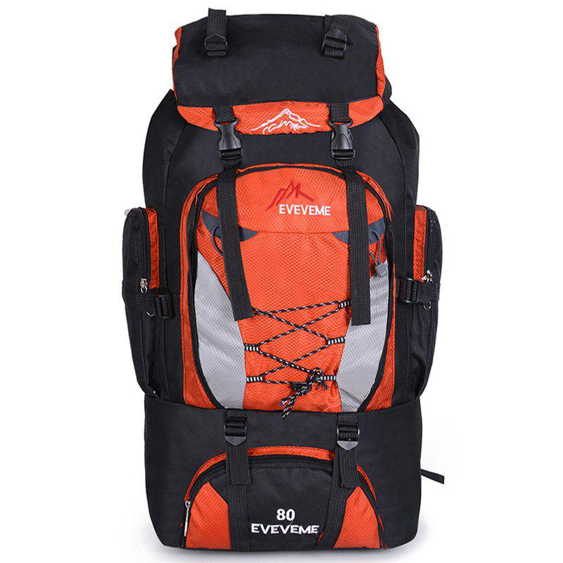 Shops Fengtu 80L Outdoor Large Capacity Mountaineering Bag Nylon Mens Package Hiking Camping Backpacks Womens Traveling Bags