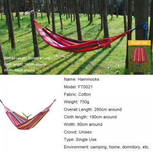 Fengtu Ft0021 Single Outdoor Camping Hammock Outdoor Hammock Men And Women Breathable Canvas Hammock -