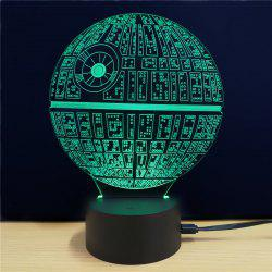 Shining Creative 3D LED Lamp The Death Star Shape Table Lamp -