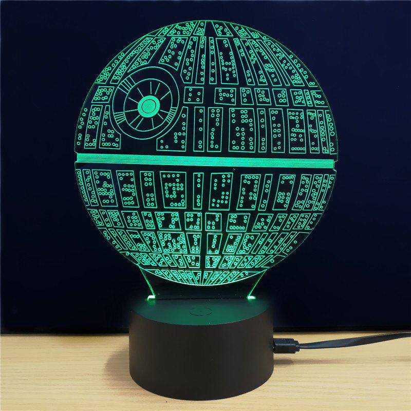 Outfit Shining Creative 3D LED Lamp The Death Star Shape Table Lamp