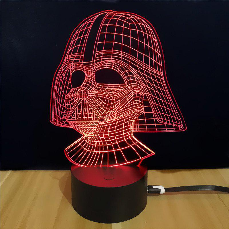 M.Sparkling Td054 Star Wars Darth Vader Shape 3D LEDLampHOME<br><br>Color: COLORFUL; Model: TD054; Wattage: 0.5W; Material: ABS; Available Light Color: RGB; Suitable for: Holiday Decoration,Home Decoration,Night Light,Party;