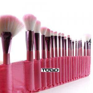 Todo 22PCS Pink Professional Cosmetic Soft Brush Set pour maquillage -