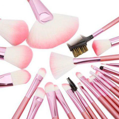 Unique Todo 22PCS Pink Professional Cosmetic Soft Brush Set for Makeup