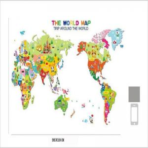 Mixed Color X Cm Colorful World Map Wall Sticker Decal Vinyl - World map for kids room