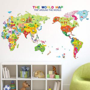 ... Colorful World Map Wall Sticker Decal Vinyl Art Kids Room Office ... Part 86