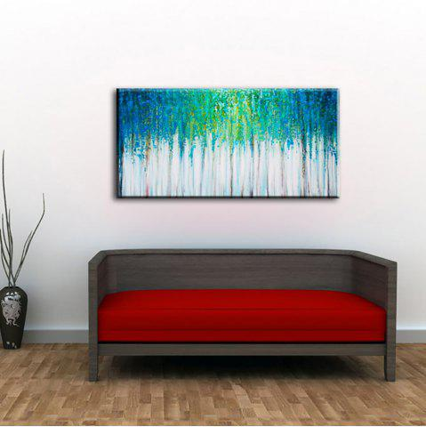 Shop Yhhp Hand Painted Abstract Blue Forest Decoration Canvas Oil Painting
