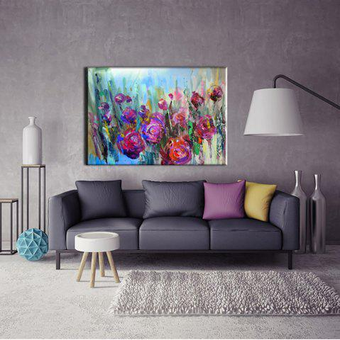 Unique Yhhp Hand Painted Abstract Rose decoration Canvas Oil Painting