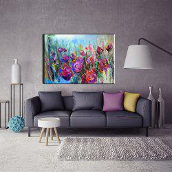 Yhhp Hand Painted Abstract Rose decoration Canvas Oil Painting -