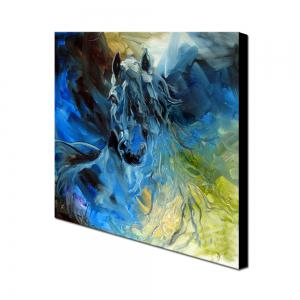 Yhhp Hand Painted Abstract  Long Hair Horse Decoration Canvas Oil Painting -