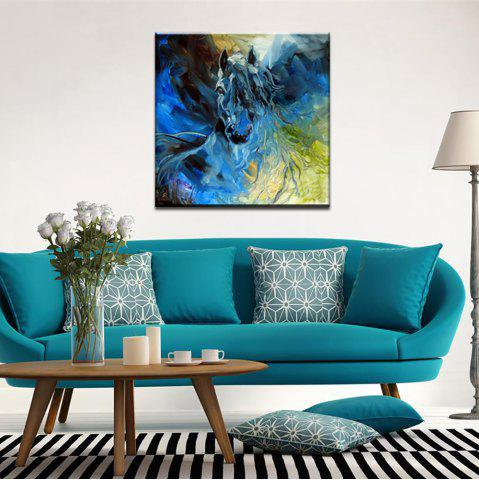 Shop Yhhp Hand Painted Abstract  Long Hair Horse Decoration Canvas Oil Painting
