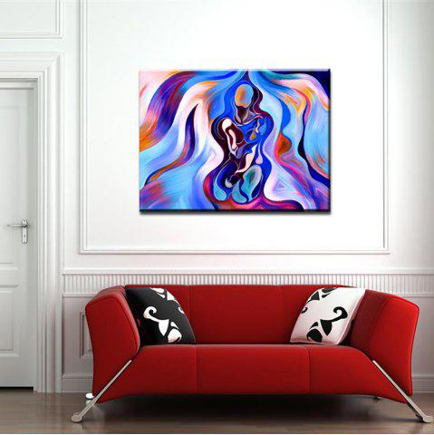 Yhhp Hand Painted Colorful Abstract Woman Decoration Canvas Oil Painting