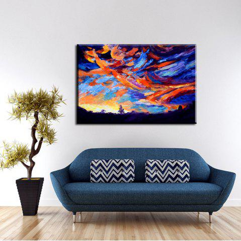 Outfit YHHP Hand Painted Abstract Gorgeous Color Cloud Decoration Canvas Oil Painting