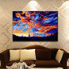 YHHP Hand Painted Abstract Gorgeous Color Cloud Decoration Canvas Oil Painting -