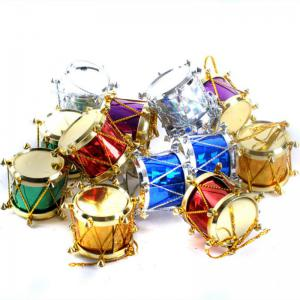 XM1 12PCS Christmas Decoration Colours Side Drum Ornaments 2.5CM - COLORMIX