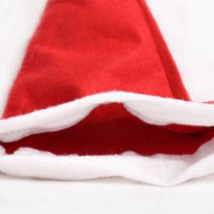 10PCS Adult Nonwovens Christmas Hat Christmas Party Decorate 28 x 38CM - RED