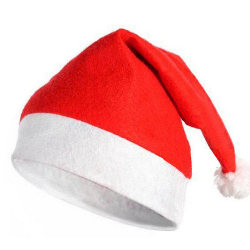 10PCS Adult Nonwovens Christmas Hat Christmas Party Decorate 28 x 38CMHOME<br><br>Color: RED; Material: Nonwoven; Usage: Christmas; Package Quantity: 10 x Christmas Hat;