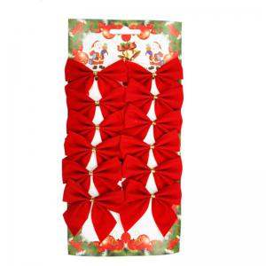 XM1 12pcs Red Bowknot Christmas Trees Accessories 6CM -