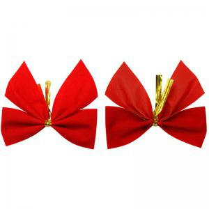 XM1 12pcs Red Bowknot Christmas Trees Accessories 6CM - RED
