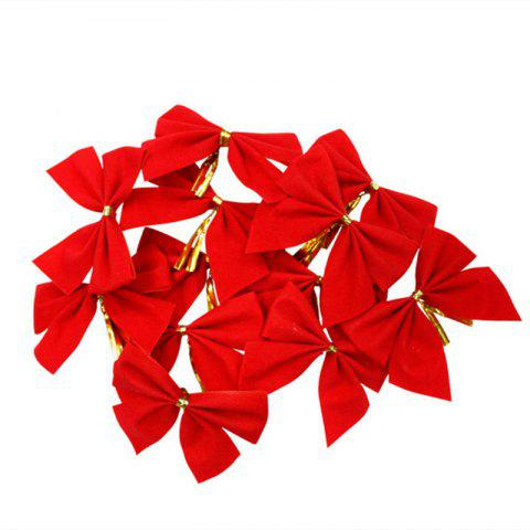 Online XM1 12pcs Red Bowknot Christmas Trees Accessories 6CM RED