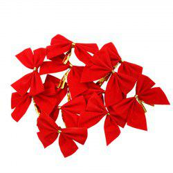 XM1 12pcs Red Bowknot Christmas Trees Accessories 6CM
