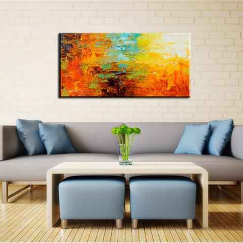 Latest Yhhp Hand Painted Abstract Colour Profusion Decoration Canvas Oil Painting