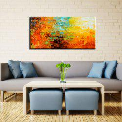 Yhhp Hand Painted Abstract Colour Profusion Decoration Canvas Oil Painting -