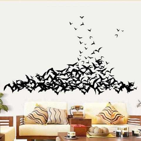 Shop Mcyh Wl94 Black Bats Living Room Bedroom Background Sticker BLACK 58*60CM