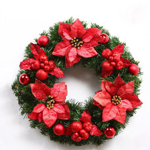 Hot MCYH WL129 Christmas Garlands Christmas Wreaths Door Decorations FLAME 40CM