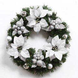 MCYH WL129 Christmas Garlands Christmas Wreaths Door Decorations - SNOW WHITE 40CM