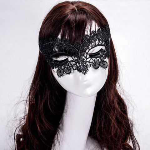 Affordable Mcyh Wl151 Costume Ball Black Sexy Lace Mask - 22*11CM BLACK Mobile